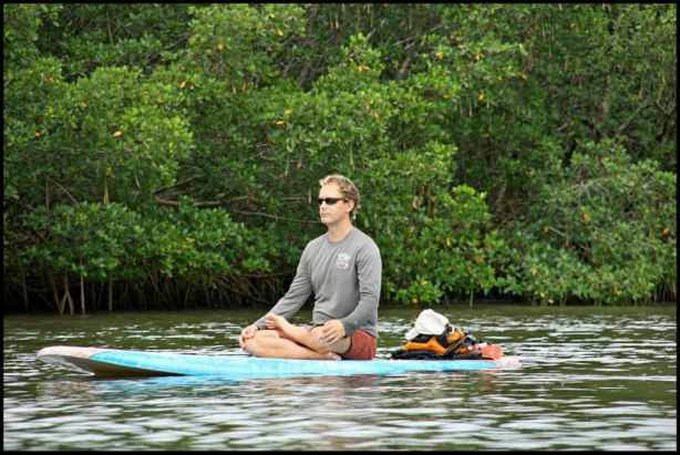 standup paddle board yoga Jeff Fabiszewski